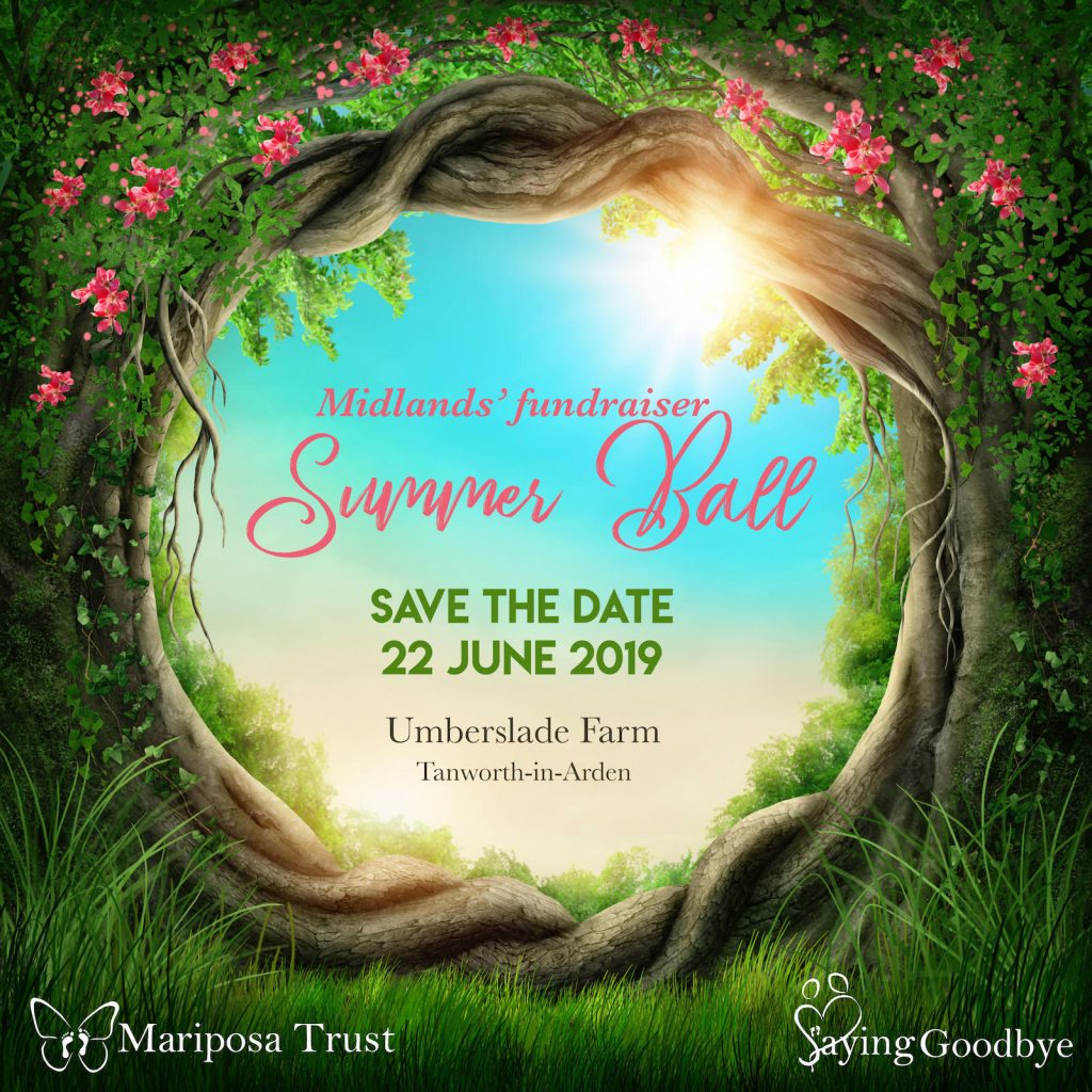 Midlands' fundraiser - Summer Ball - 22nd June 2019 - SAVE THE DATE!